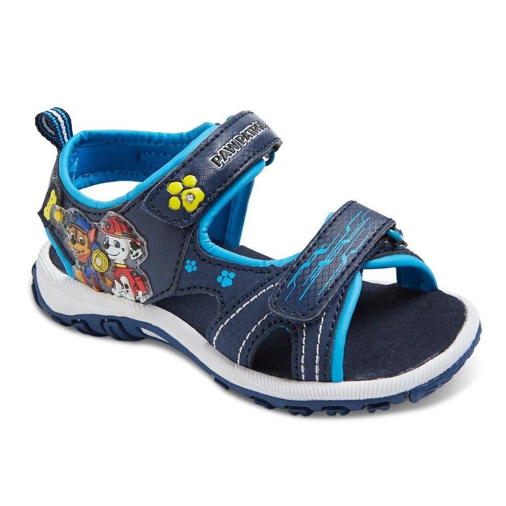0917751977c Toddler Boys  Paw Patrol Light Up Sandals - Blue 7