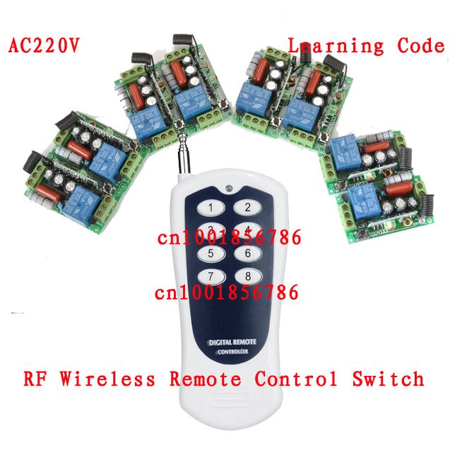 Wireless Remote Control Switch Receiver 220v 8ch Long Range Distance Transmitter Big Building Farm Remote Control System Remote Control Remote Coding