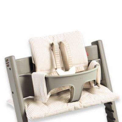Fantastic Stokke Tripp Trapp Cushion In Beige Stripe Products Caraccident5 Cool Chair Designs And Ideas Caraccident5Info