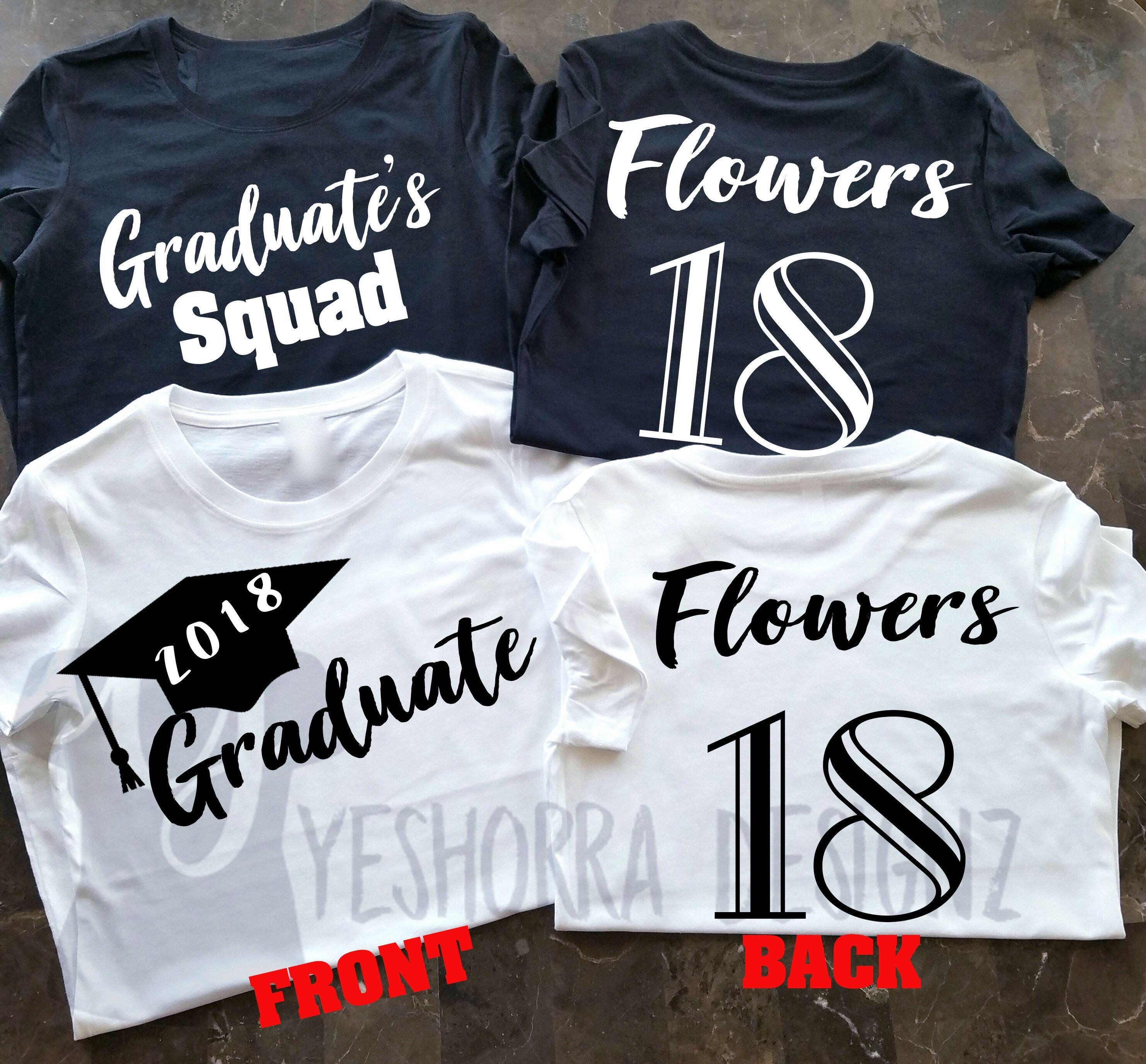 d290ef3f8 Graduate Shirt, Graduate Group Shirts, Graduate Squad Shirts, Customized Graduate  Shirt, Graduate