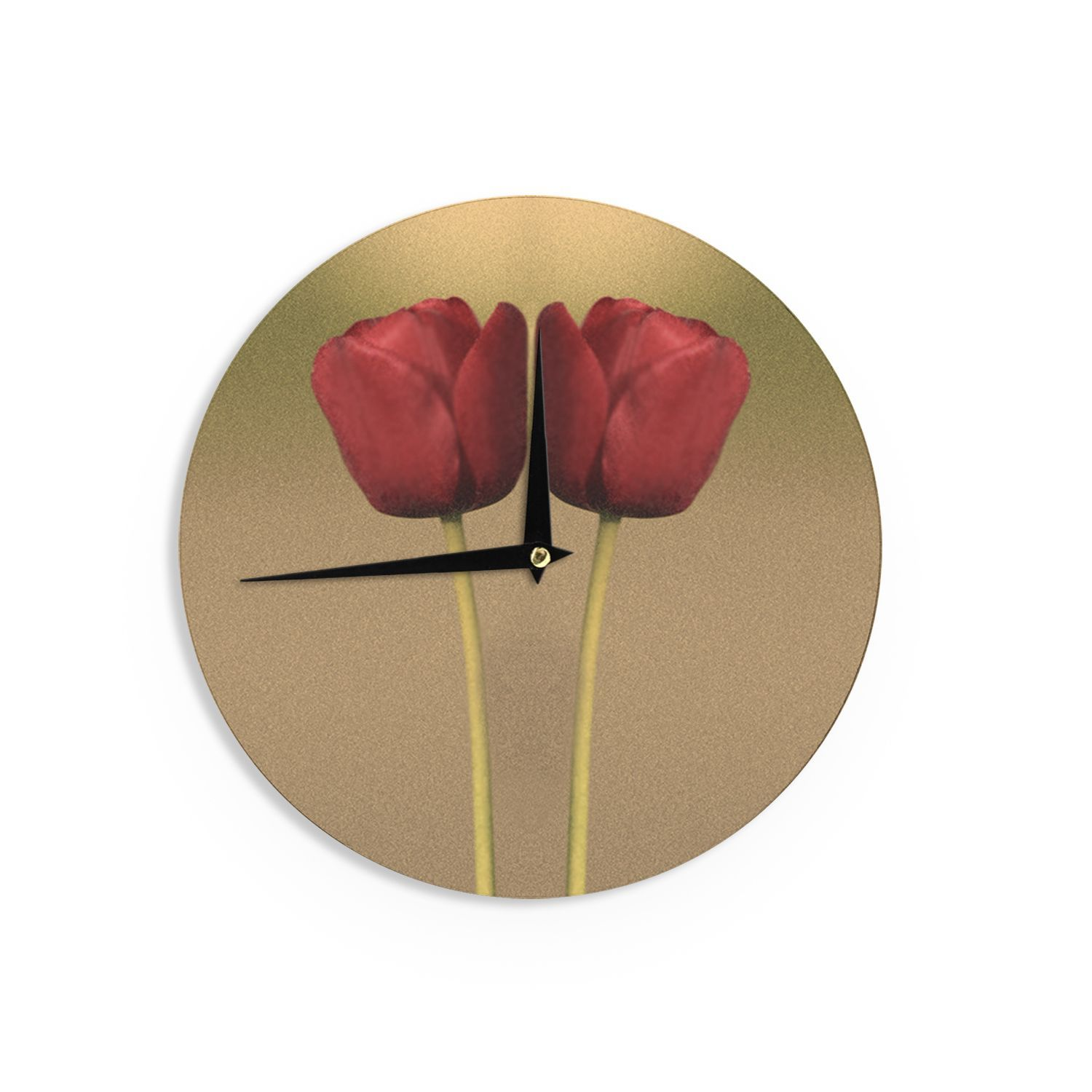 Kess InHouse Sylvia Coomes 'Two Of A Kind' Floral Wall Clock