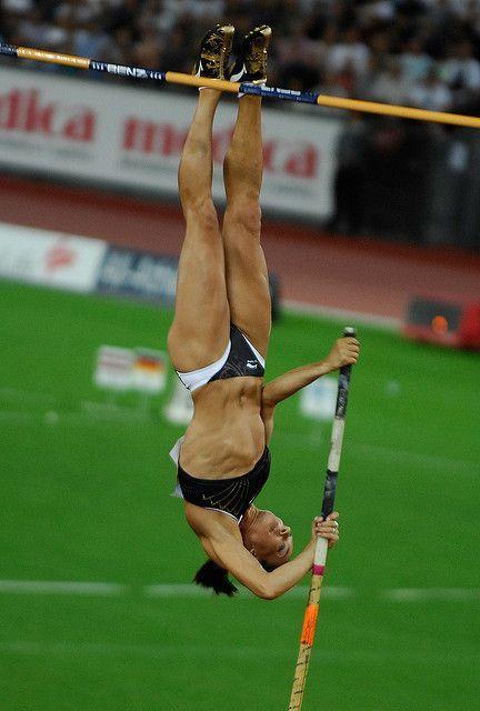 Motivational Quotes Female Athletes Yelena Isinbayeva Breaks World Record  Athlete Pole Vault And .