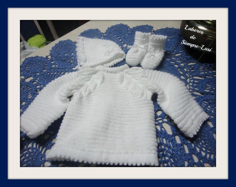 Labores de siempre | Tejidos | Pinterest | Colores blancos, Lana y Bebé
