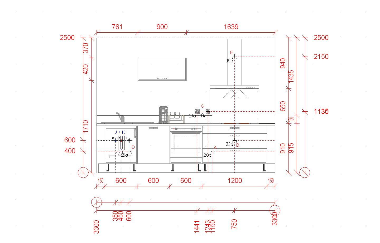 fixation meuble cuisine : où et comment ? (5 messages ... - Hauteur D Un Plan De Travail De Cuisine