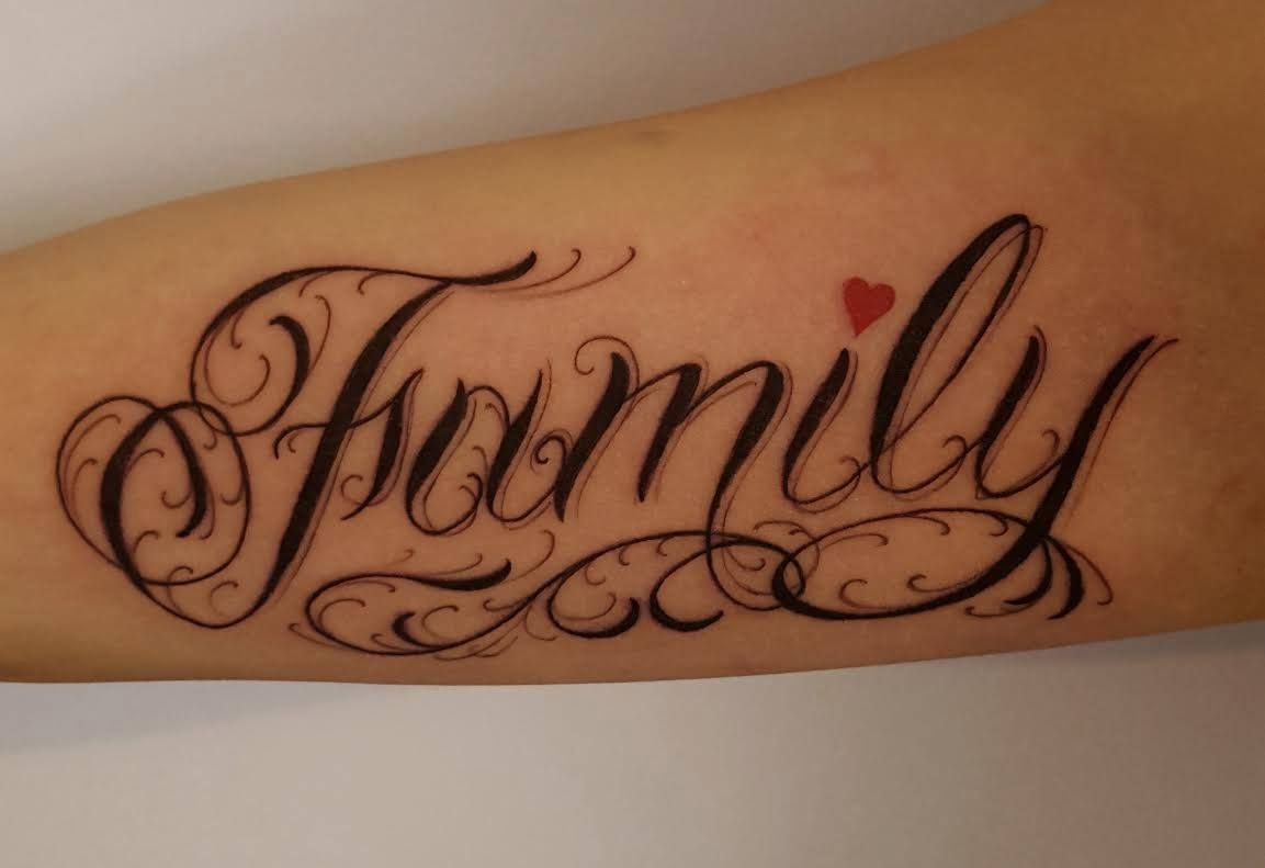 Calligraphy Tattoo Artist Toronto Chronic Ink Tattoo Toronto Tattoo Custom Lettering