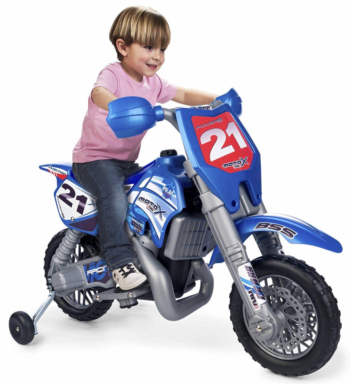 FEBER 800002995 MOTO INFANTIL 6V CROSS AZUL. CASCO INCLUIDO