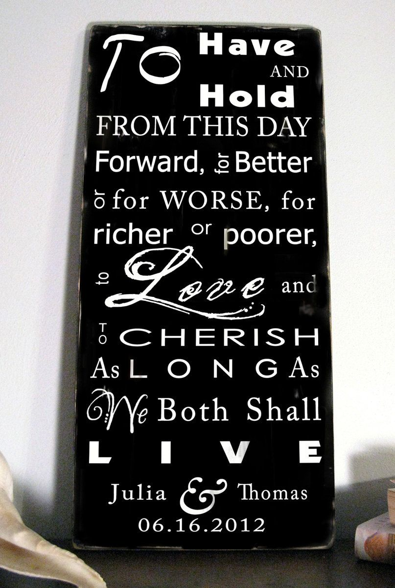 wedding vows love this so much, when you look at it on your wall everyday you'll be reminded!