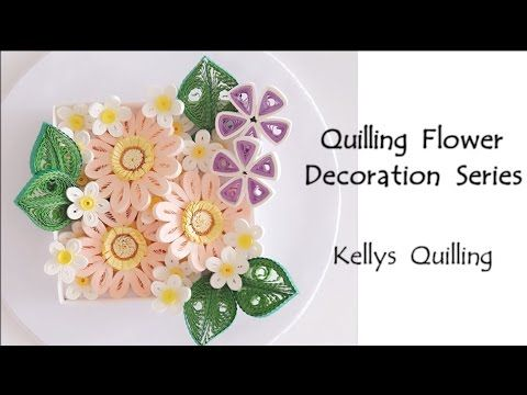 paper quilling flower decoration learning video 1 paper quilling art paper flower youtube