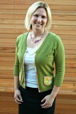 Cardigan Refashion by Make It Perfect