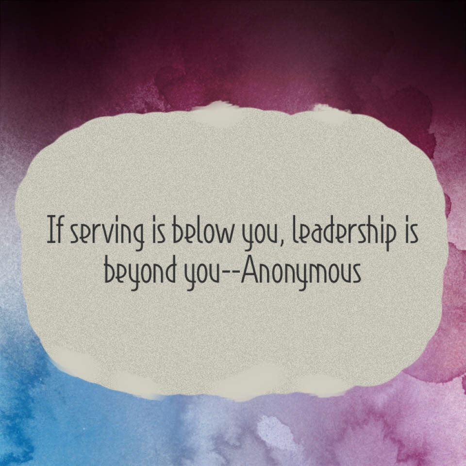 Servant Leadership: It Is Easy to Forget