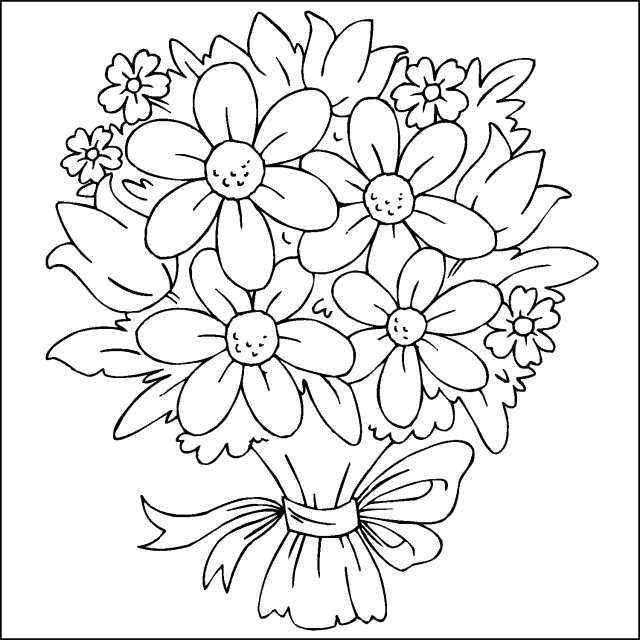 Flower Coloring Pages Flower Coloring Sheets Printable Flower Coloring Pages Flower Coloring Pages