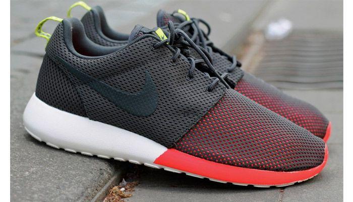 Nike Roshe Rouge Vert Noir