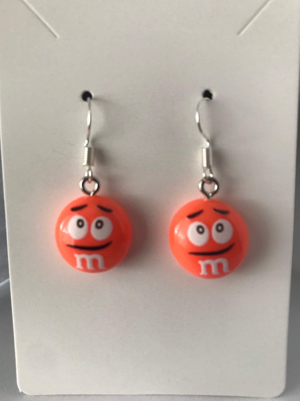 m and m earrings Candy earrings