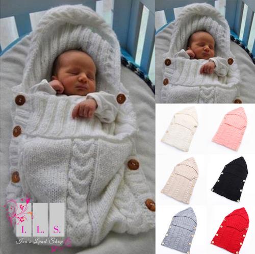 Baby Infant Newborn Soft Blanket Knit Swaddle Wrap Sleeping Bag Crochet Sleep