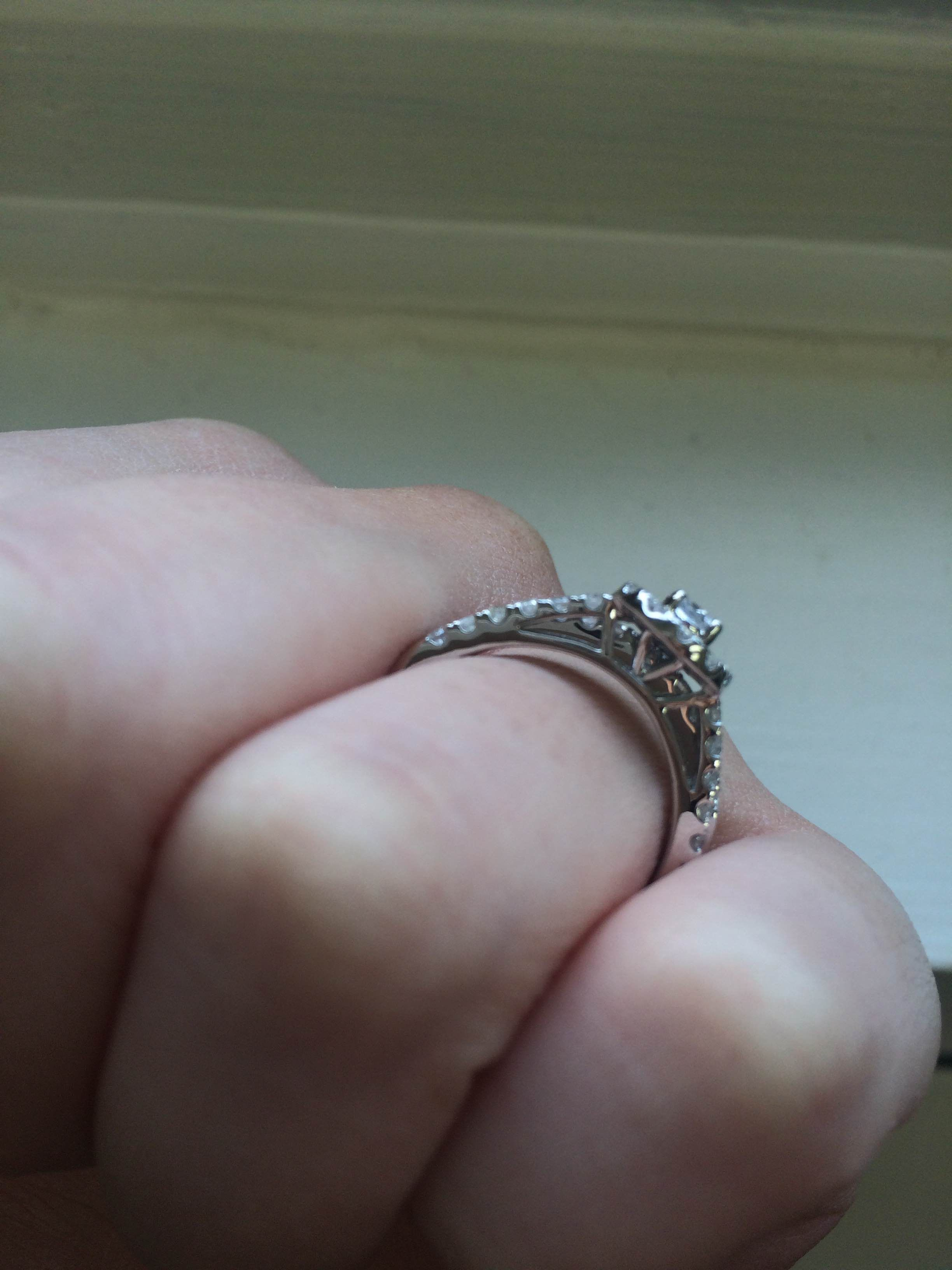 Rings on Hand Engagement Ring BT535WE Wedding ring