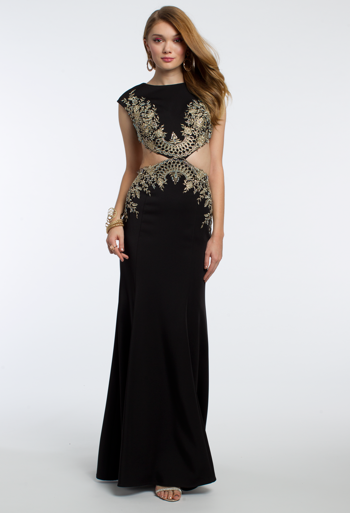 Go all out in headto toe embroidery with this vibrant long dress