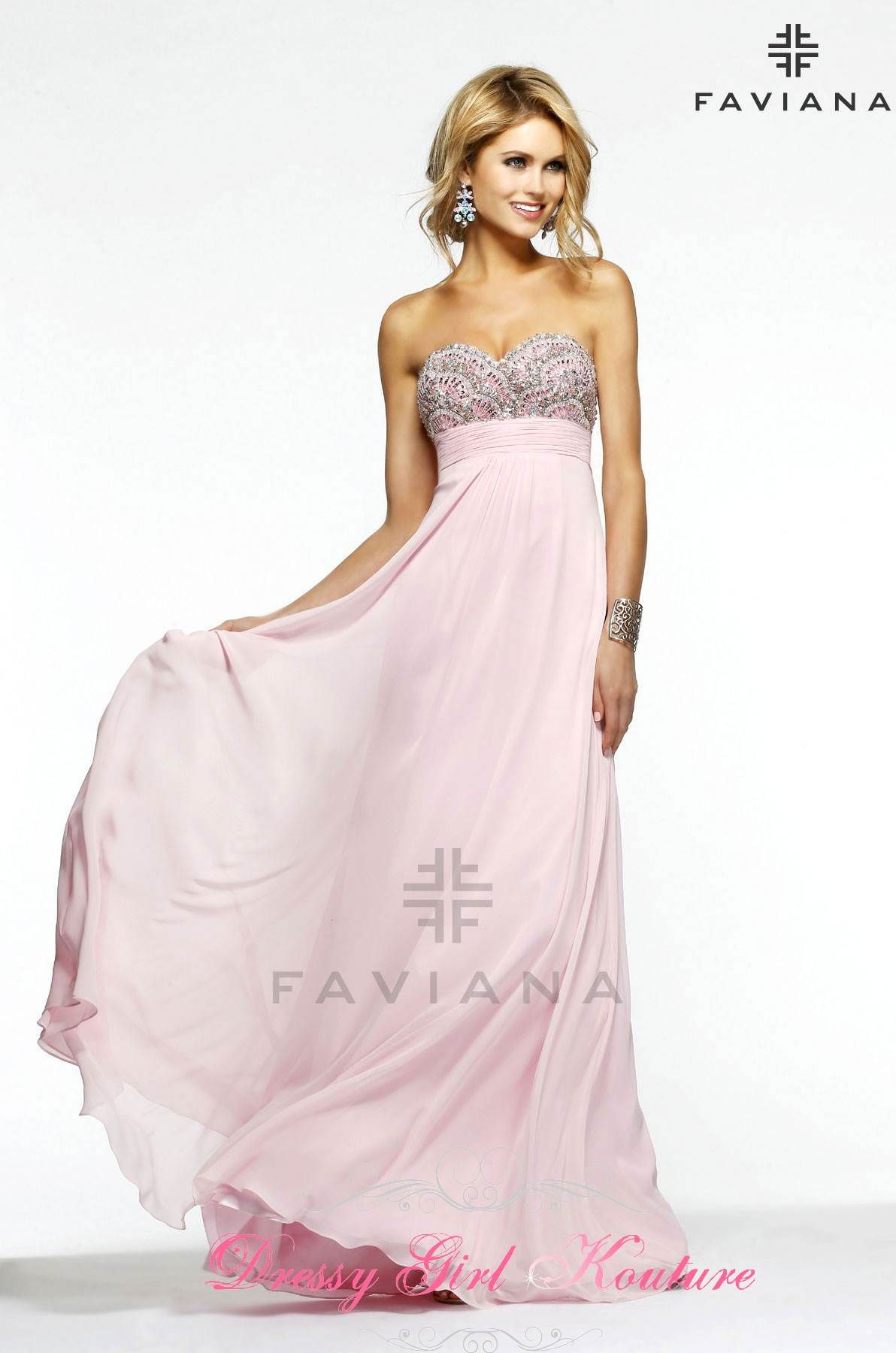 Faviana style S7385 Nice looking #FlowyChiffonDress #PromDress2014 #HomecomingDresses $478