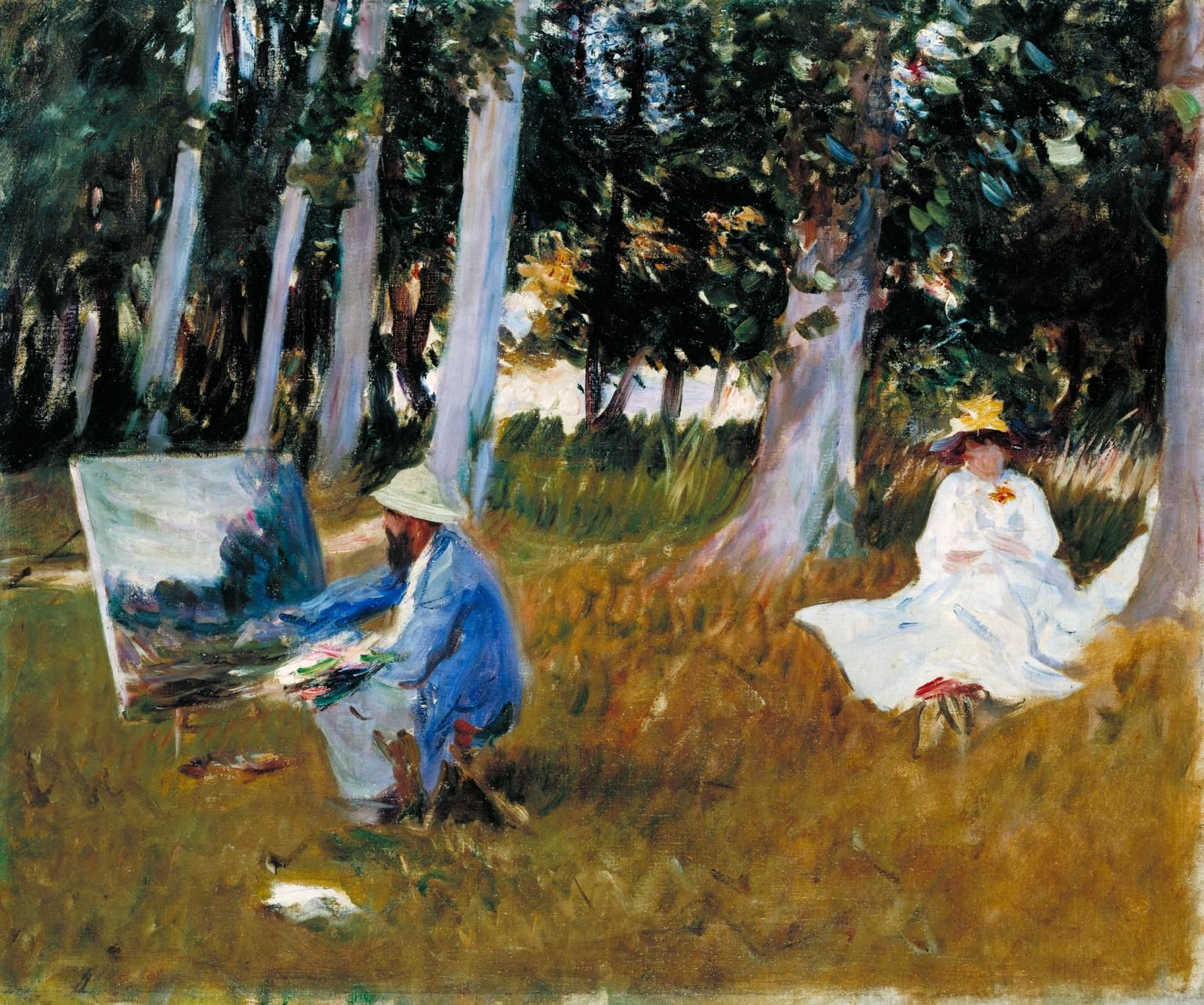 john singer sargent claude monet painting by the edge of a wood john singer sargent claude monet painting by the edge of a wood