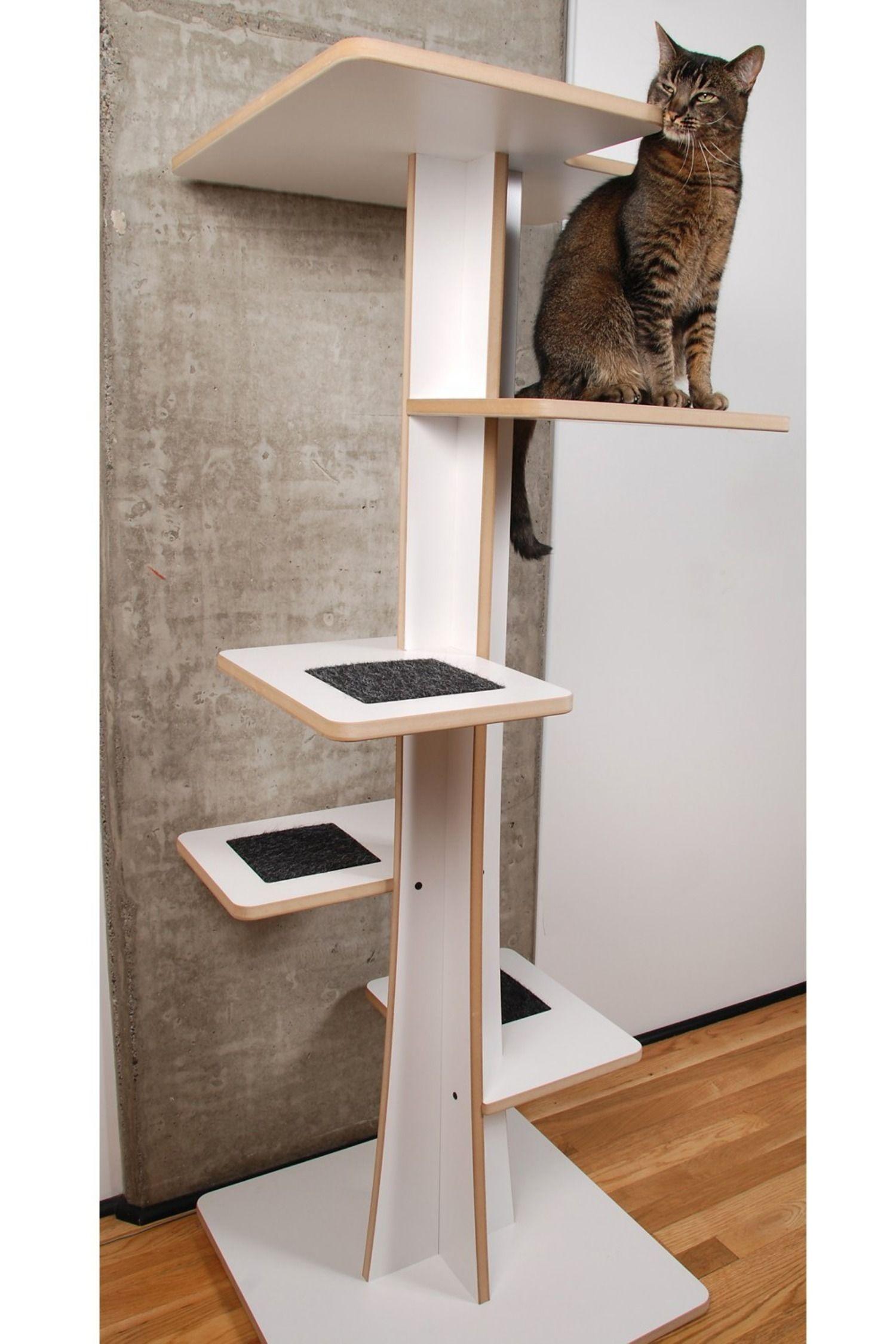 Baobab Modern Cat Tower Wood cat, Cat furniture diy