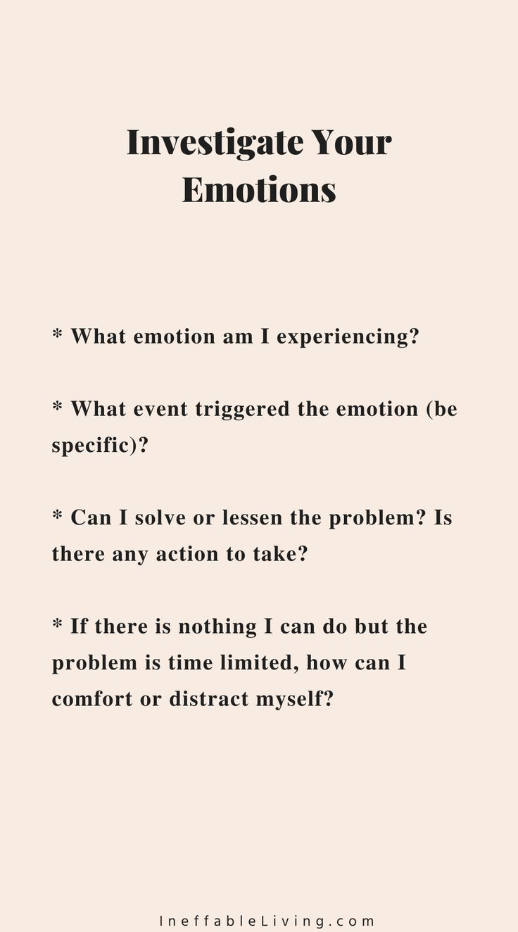 Investigate Your Emotions