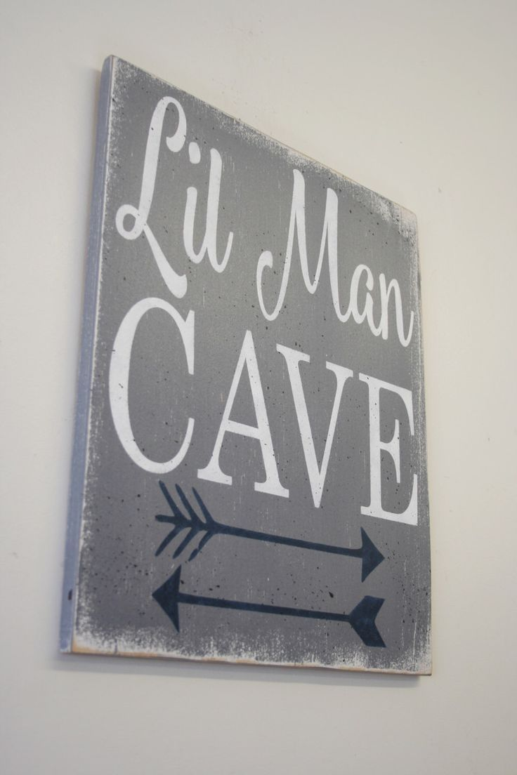 Arrow Wall Decor For Nursery : Lil man cave wood sign tribal arrow nursery woodland