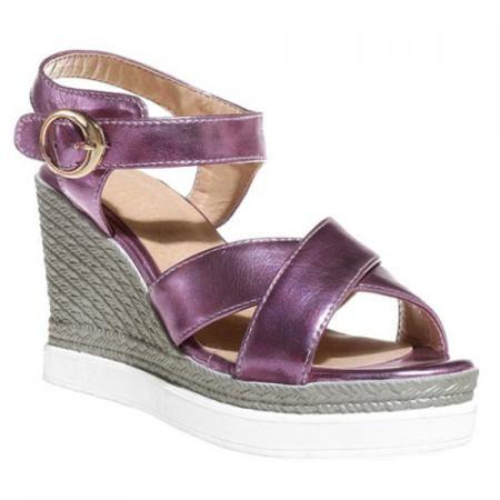Fashion Cross Strap and Wedge Heel Design Women's Sandals