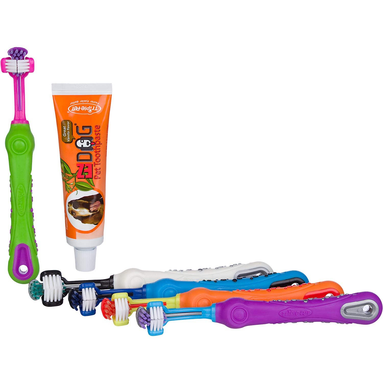 This dog toothbrush is awesome. It brushes several teeth at once. Great product!