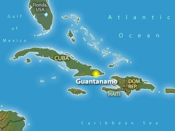 Guantanamo Bay Cuba Map Map shows where I live. | Guantanamo Bay | Cuba, Childhood