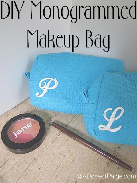 Monogrammed Makeup Bag   A Dose of Paige