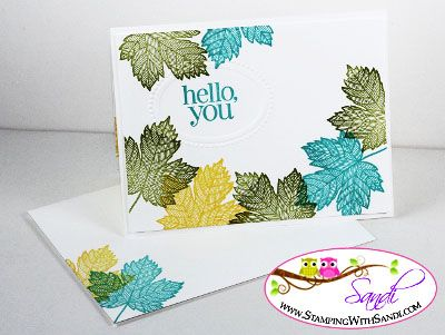I shared the card recipe here: http://stampingwithsandi.com/more-magnificent-maples/
