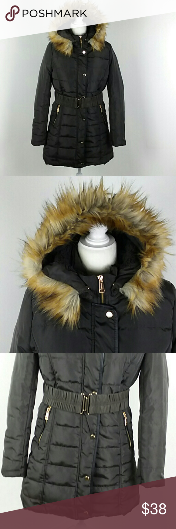 Nwt Marezzi Puffer Jacket Hooded Fleece Lined Girls Couture Fashion Clothes Design [ 1740 x 580 Pixel ]