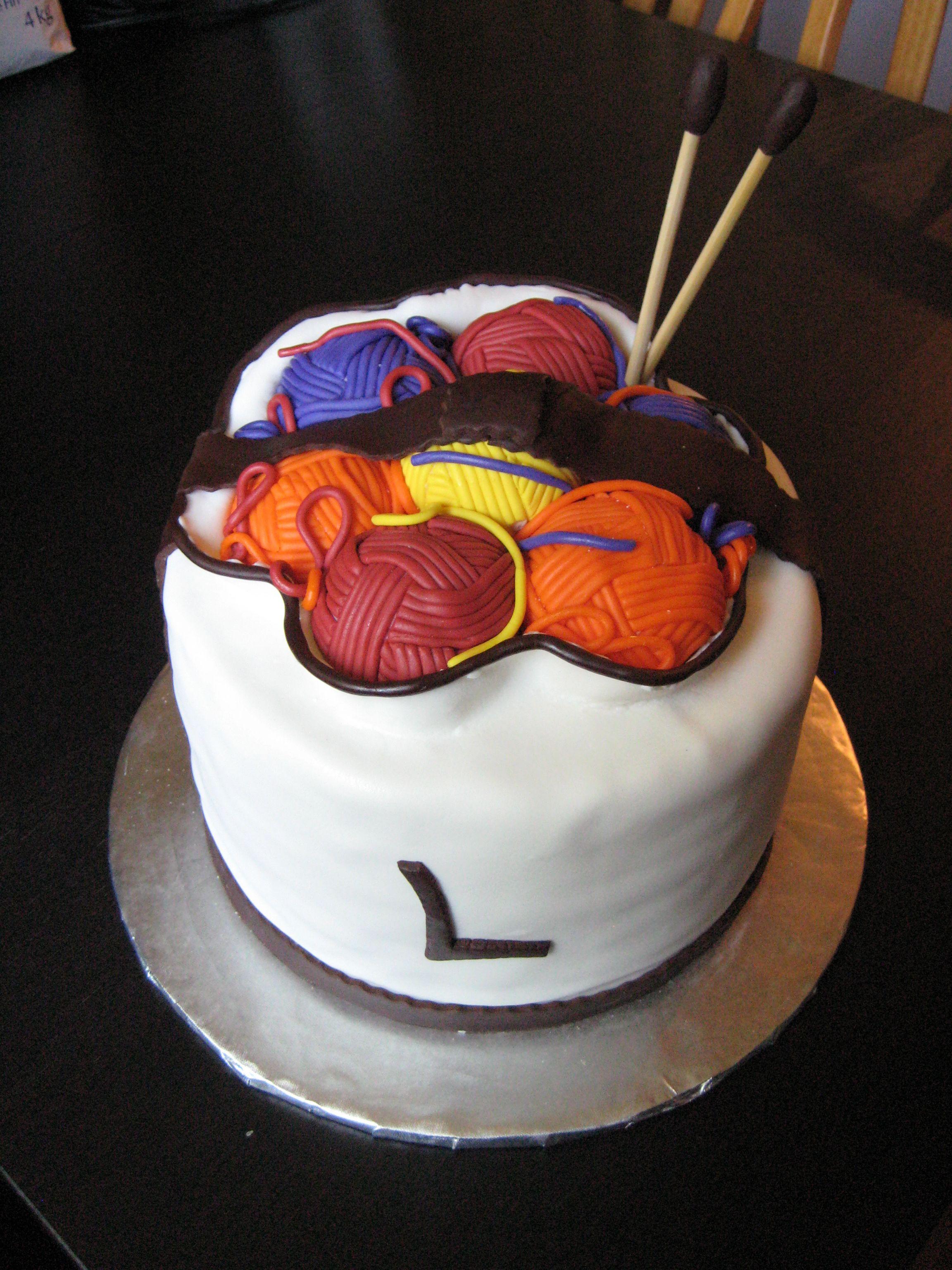 Bag Of Yarn Cake