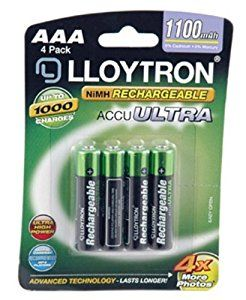 2xlloytron Aaa 1100mah Nimh Accuultra Battery Pack Of 4 Amazon Co Uk Kitchen Amp Home Rechargeable Batteries Nimh Cordless Phone