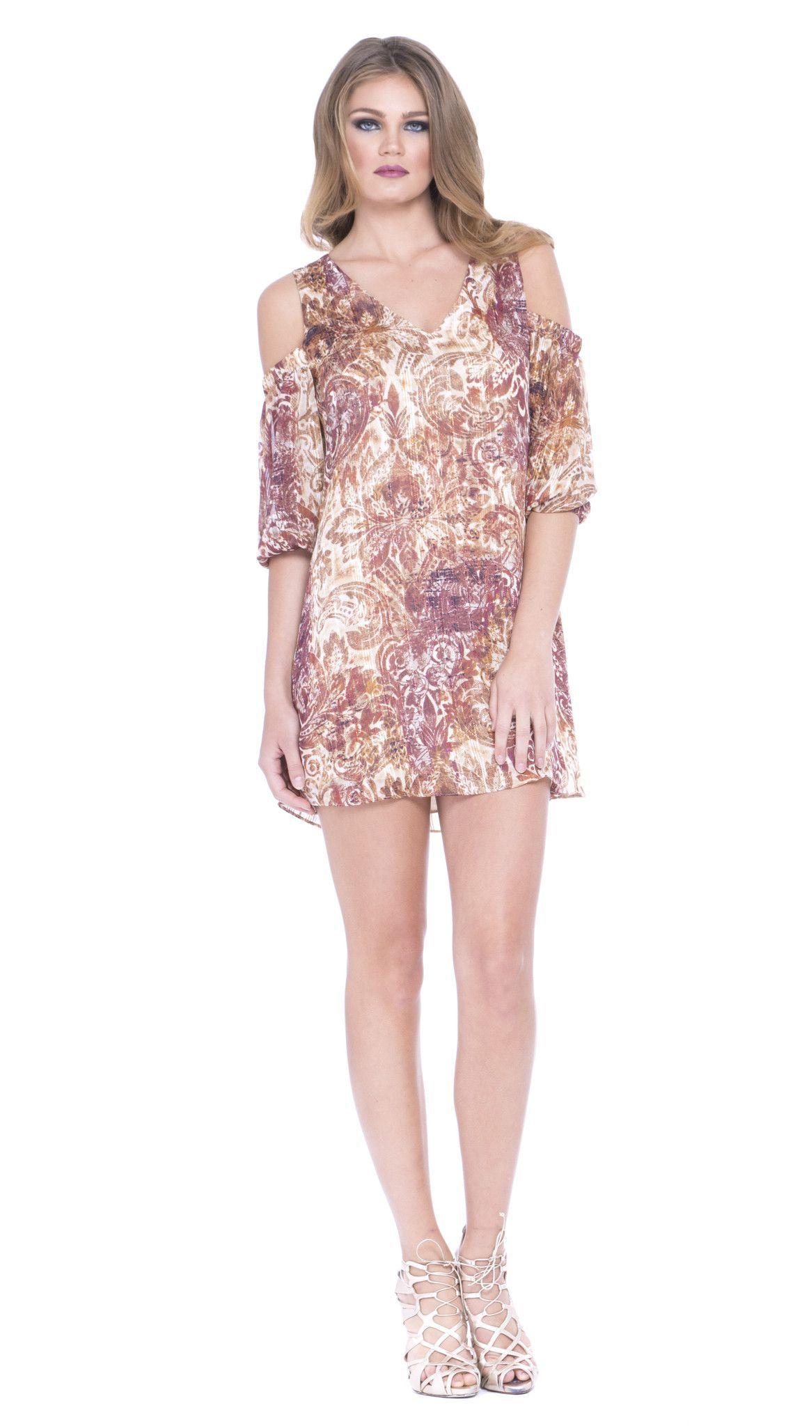 Atina Cristina Cold Shoulder Dress