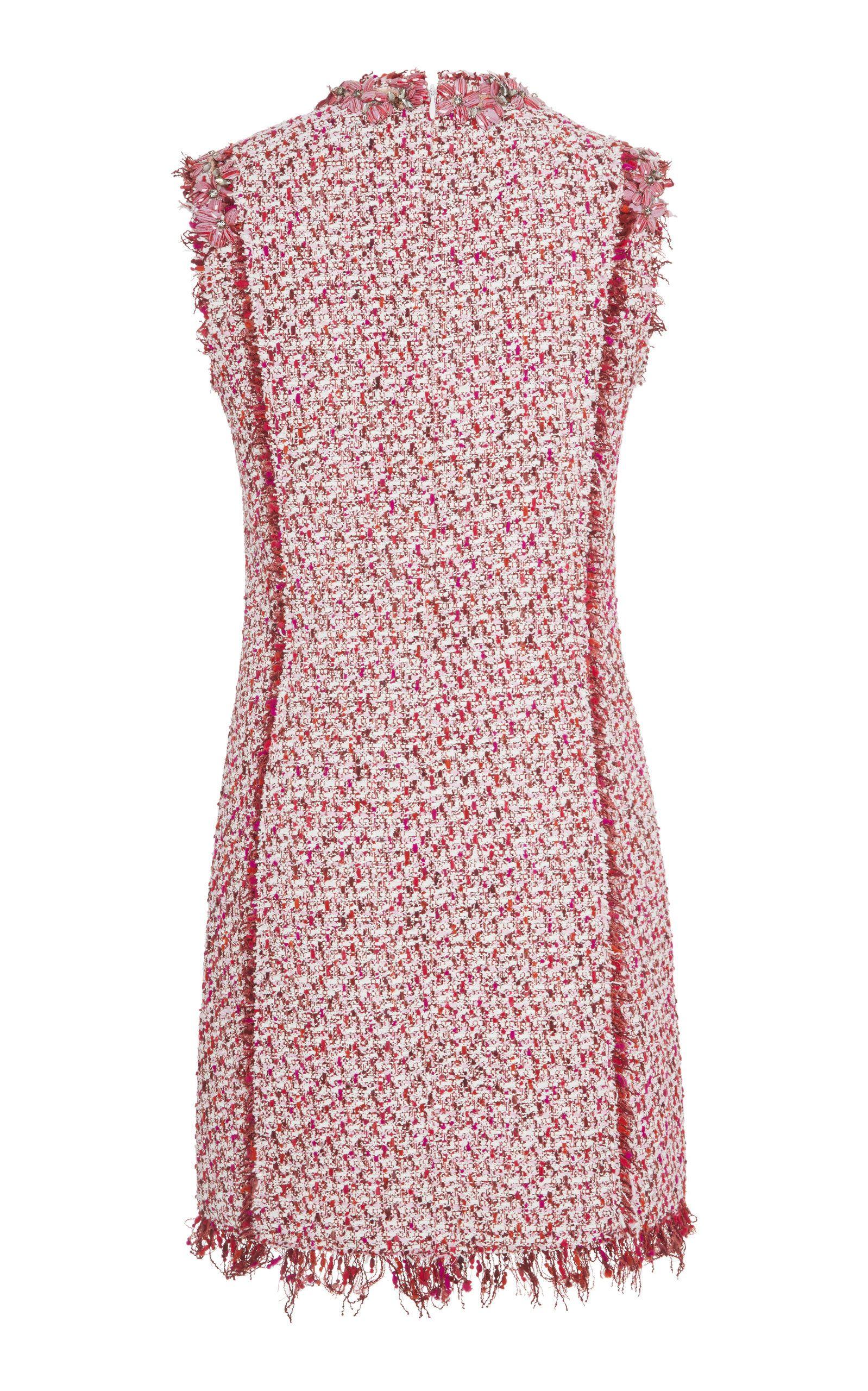 1f6045532f7 Floral-Embellished Tweed Mini Dress by GIAMBATTISTA VALLI Now Available on Moda  Operandi