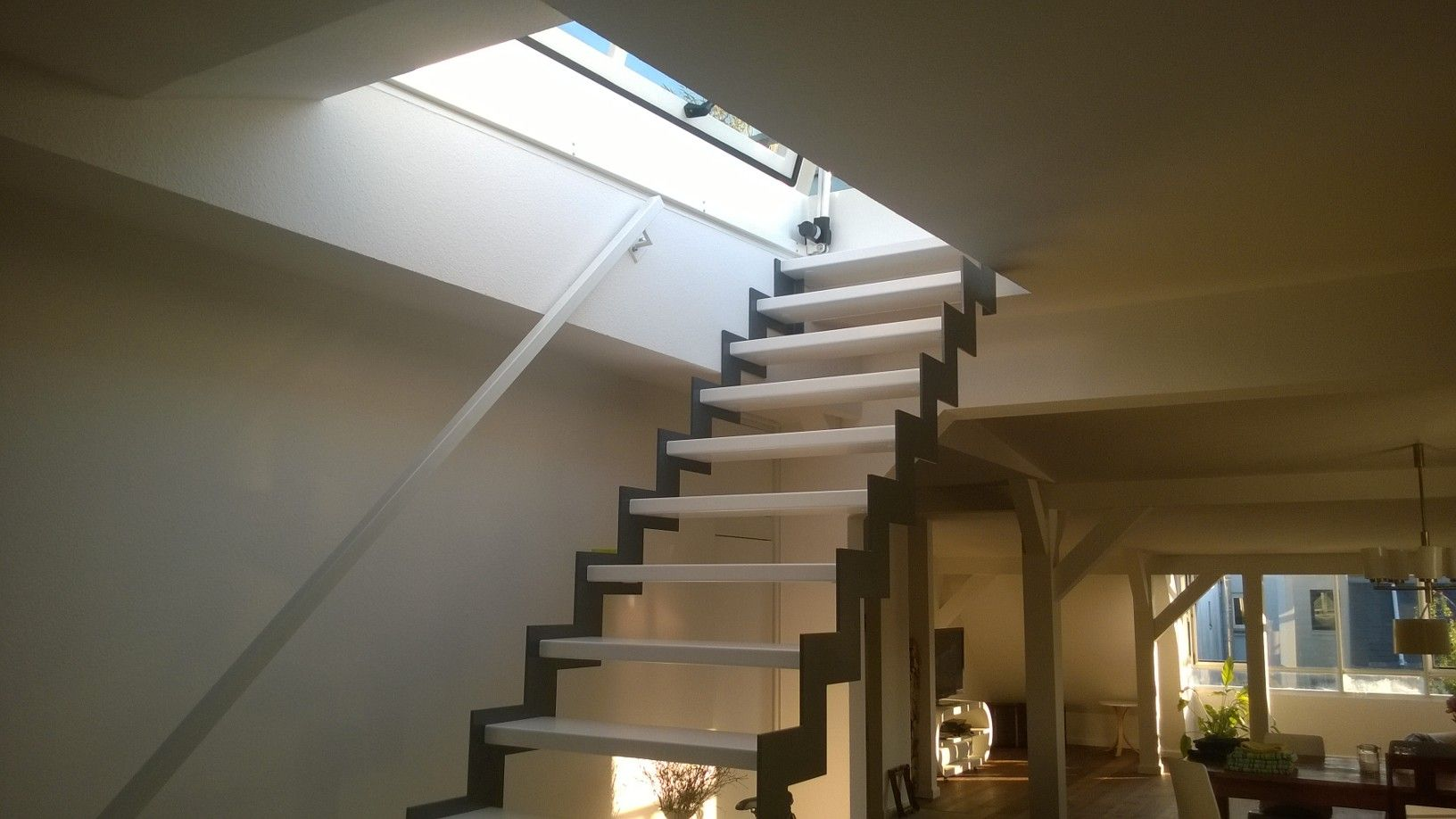 roof hatches in larger sizes can be used in combination with a fixed stair either