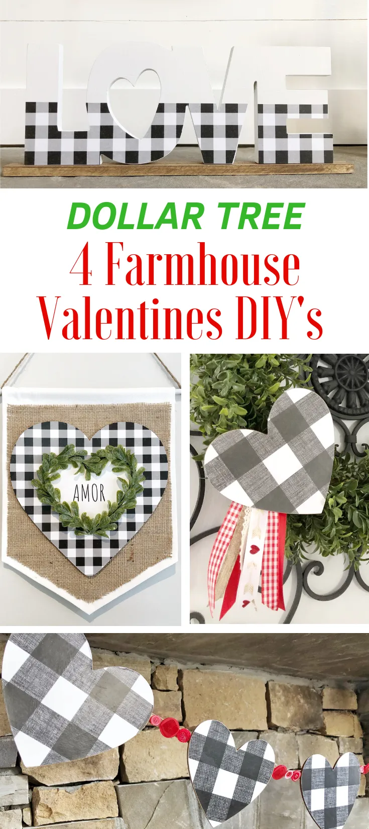4 Farmhouse Valentine's DIYs - The Latina Next Door