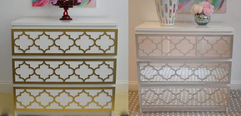 Add Instant Glam To Your Ikea Furniture Using Overlays Mirrored Dressermalm