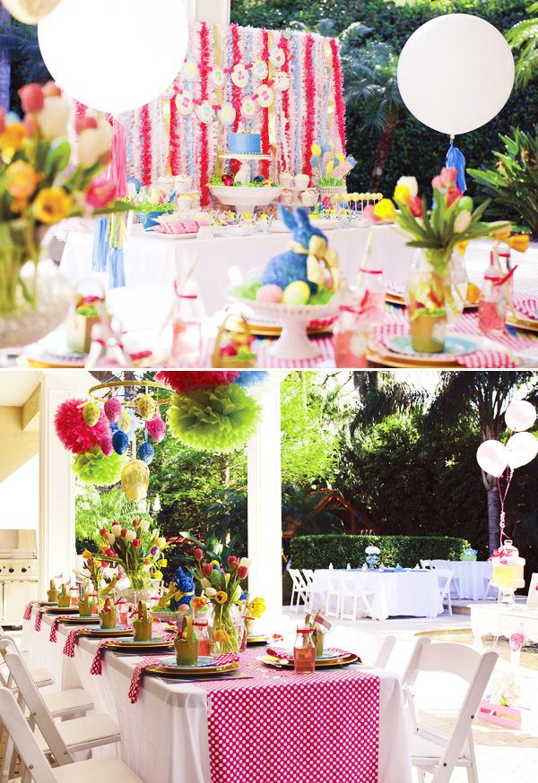 spring party table decoration ideas spring party theme - Spring Party Decorating Ideas