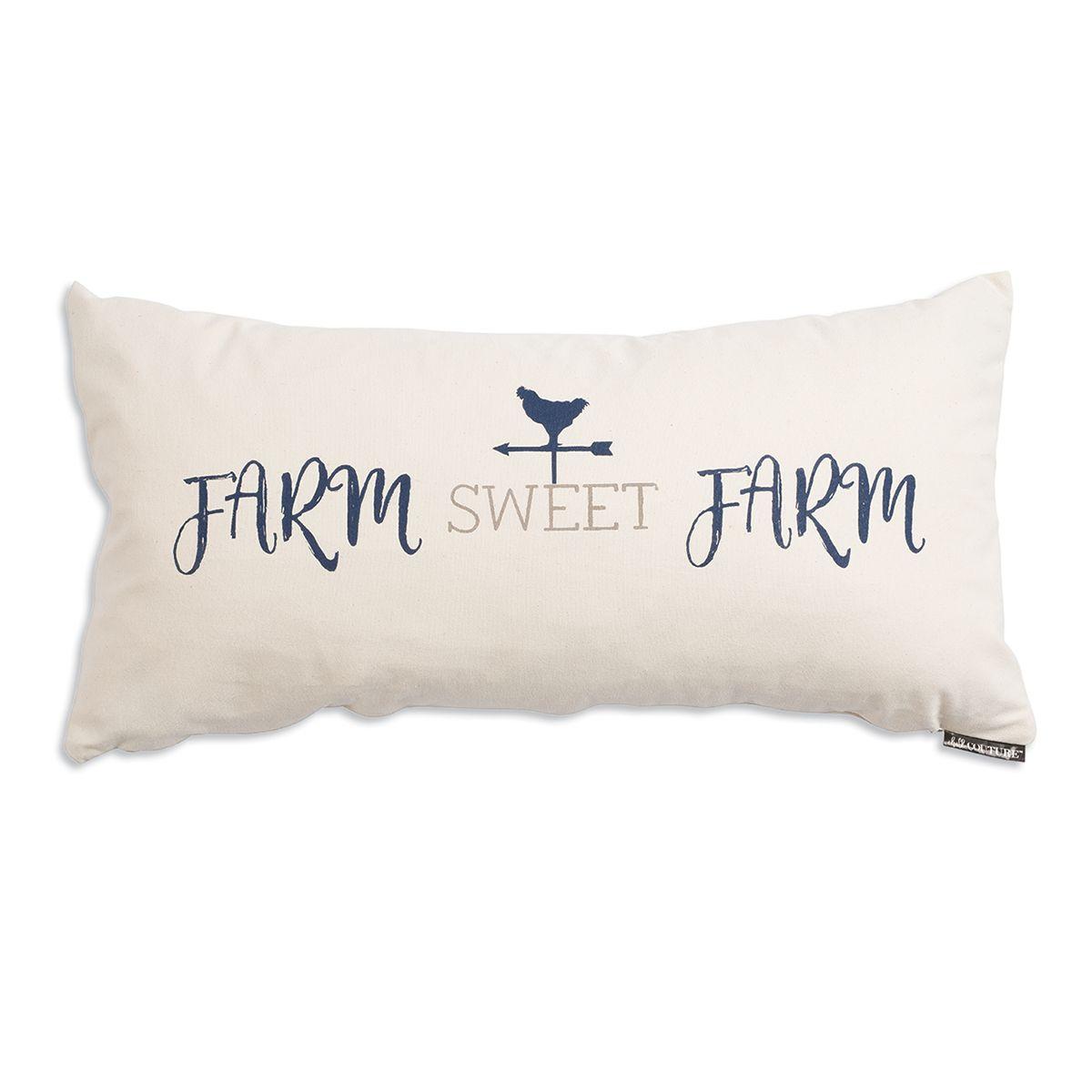 FARM SWEET FARM new small Burlap decor pillow