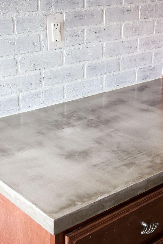 Diy Feather Finish Concrete Countertops Concrete