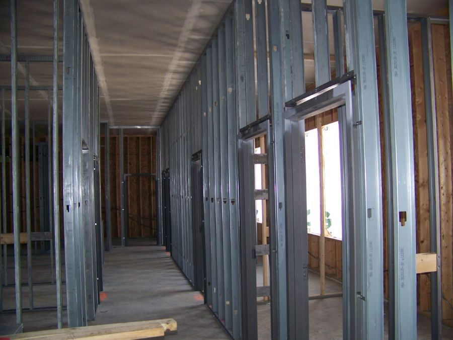 We Love Doing Steel Stud Framing Just Something About It