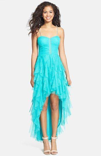 Hailey Logan Glitter Ruffle Highlow Dress Juniors Online Only