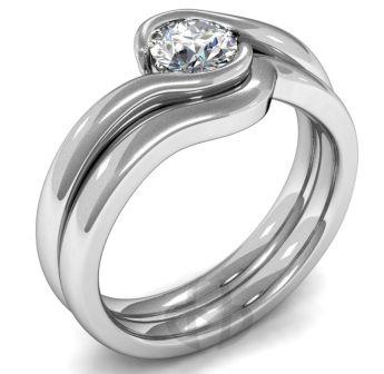 Style of engagement and wedding ring set I like Wedding stuffs
