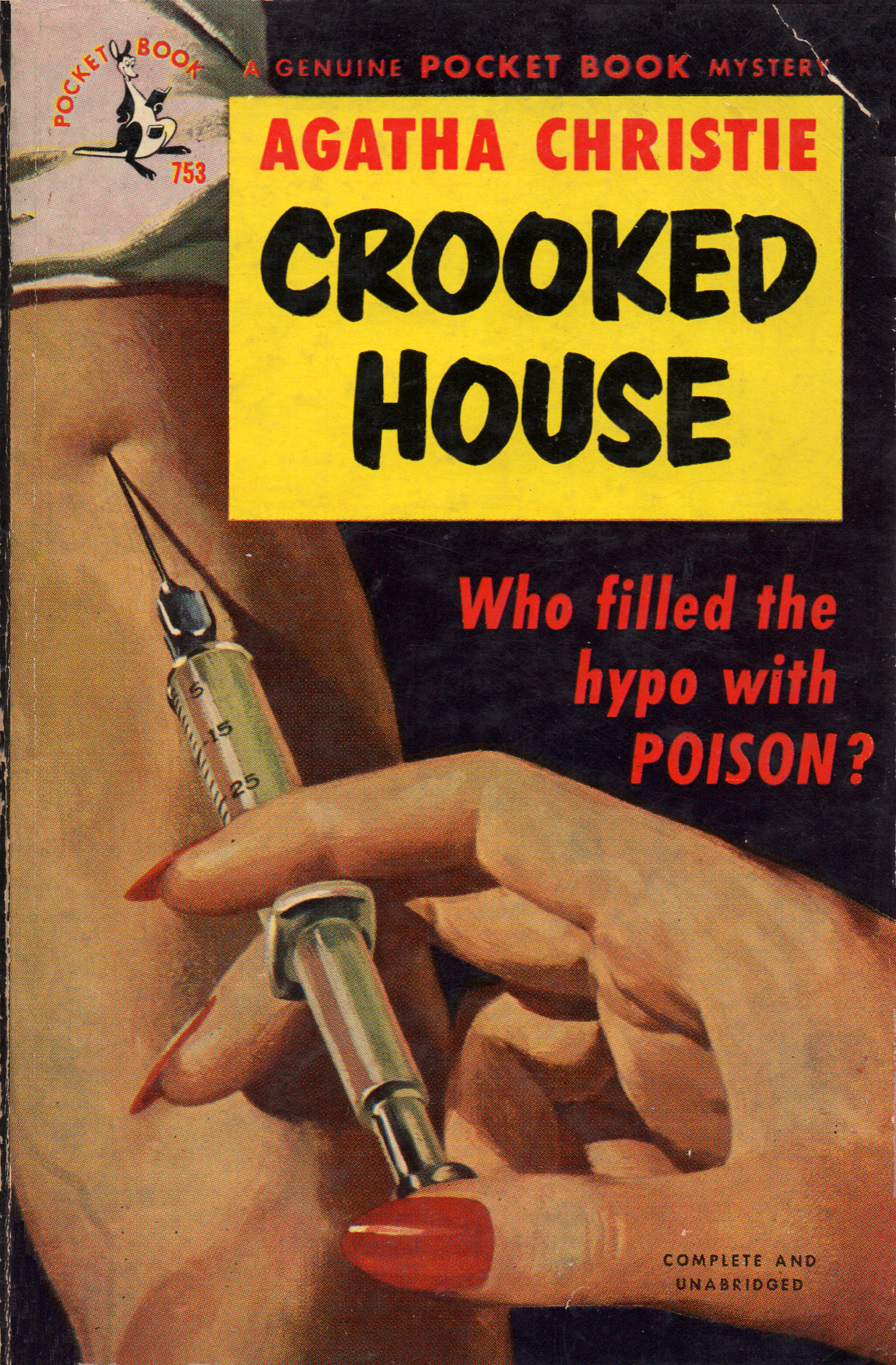 crooked house by agatha christie. pocket book edition,1950