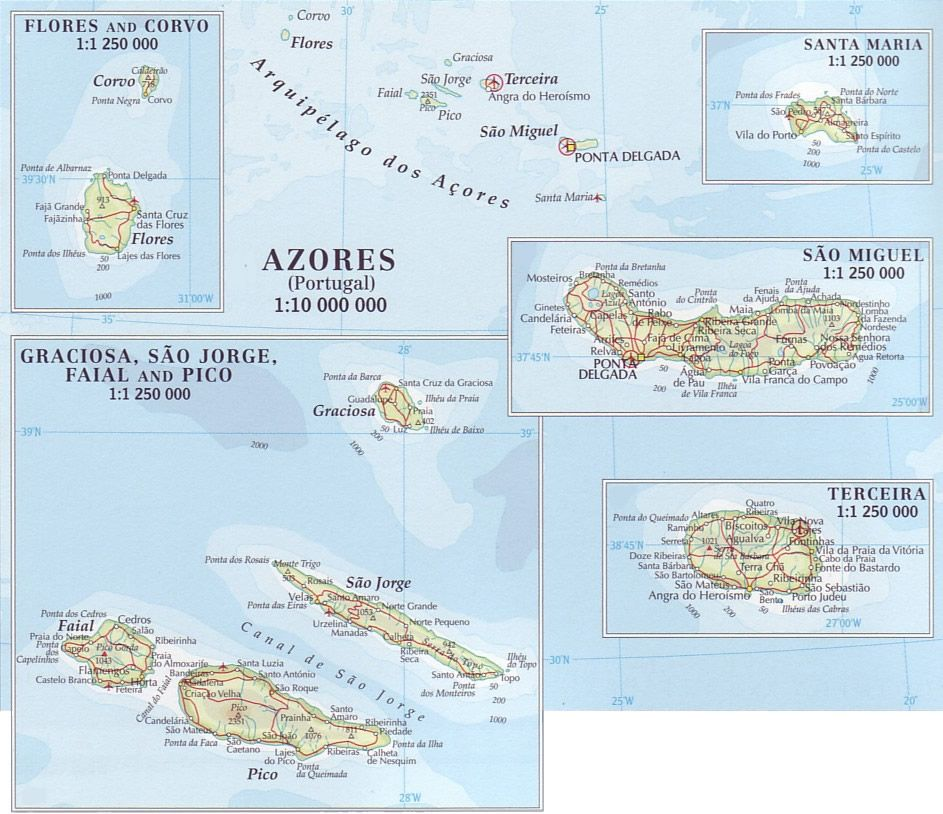 azores | return to Atlantic maps | Azores | Pinterest | Azores, Map ...