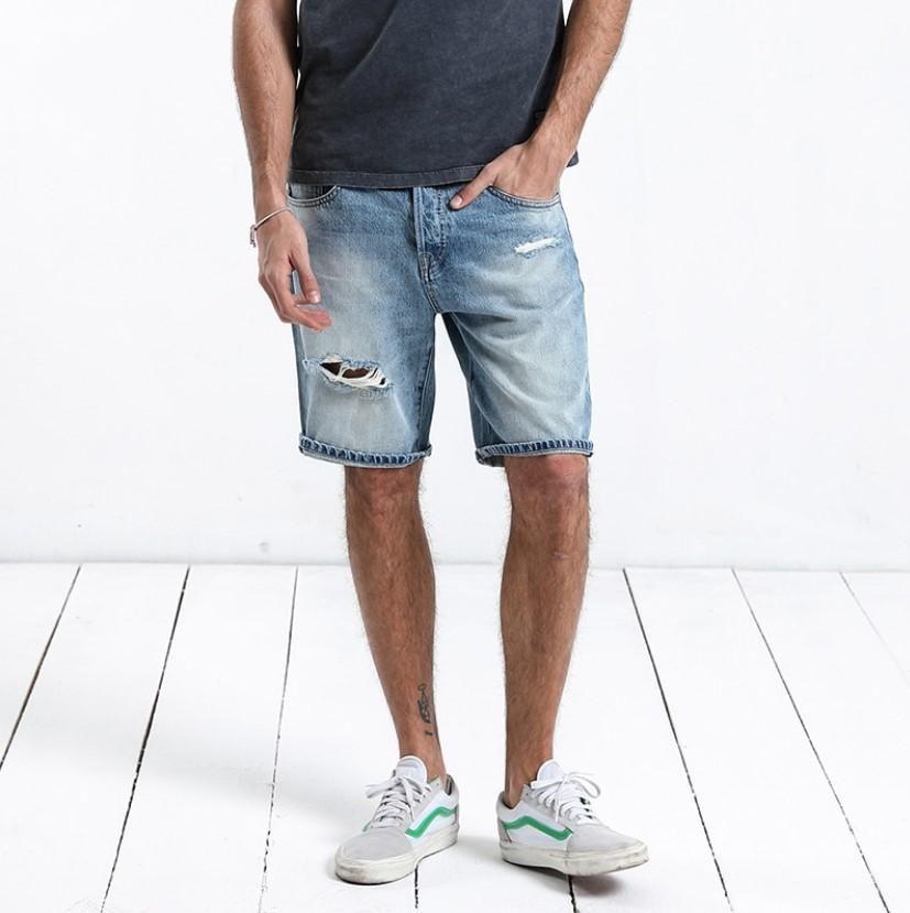 0396512d9fa Men's Summer Cotton Ripped Slim Fit Denim Shorts | ZORKET #denimshorts Plus  Size Brands,