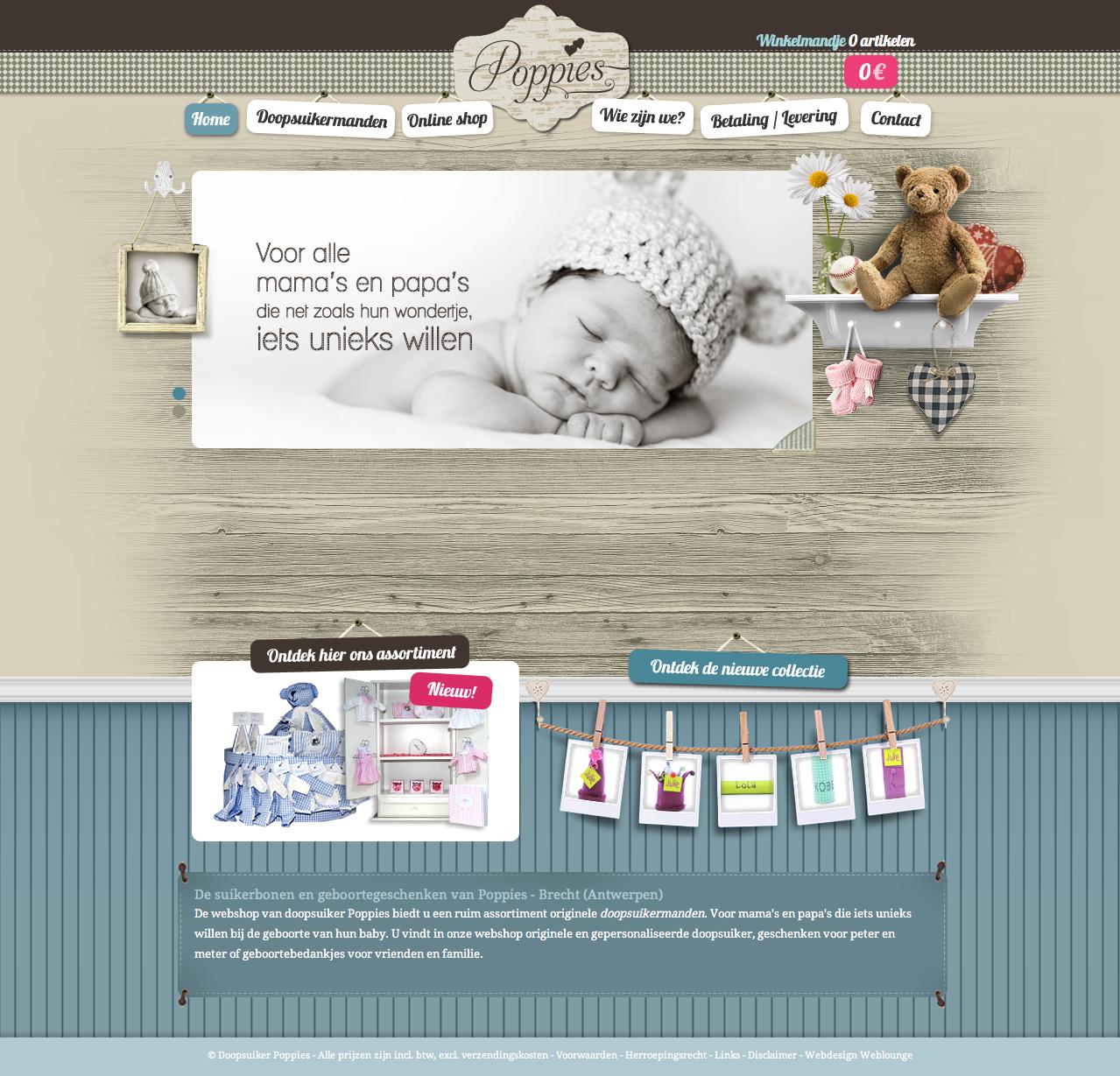 Scrapbook inspired web design