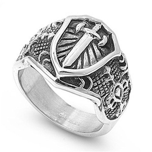 Armor of God Ring Stainless Steel with Jewelry Gift Box Stainless