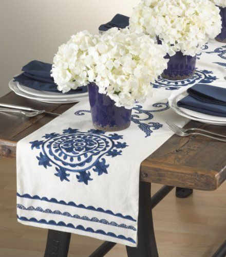 Table Runner Cobalt Blue Kitchen Decor And Accessories